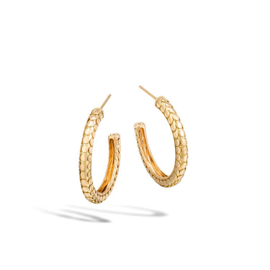 Dot Small Hoop Earring in 18K Gold, , large