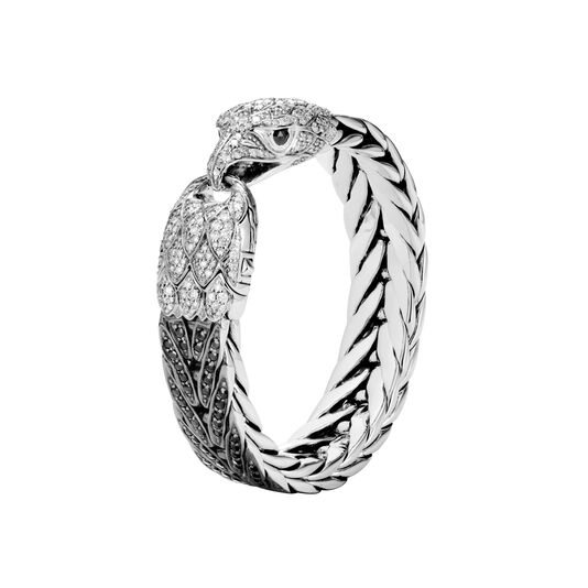Legends Eagle 15MM Bracelet, Silver, Gemstone, Diamonds, Black Sapphire, large