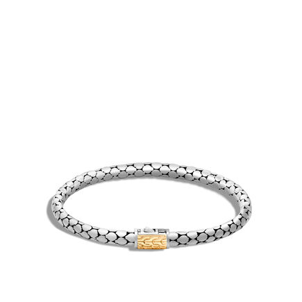 Dot 4.5MM Bracelet in Silver and 18K Gold
