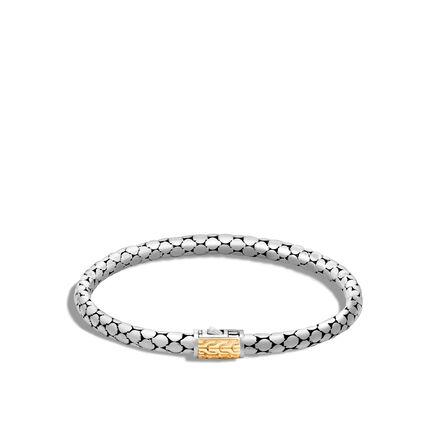 Dot 4.5MM Bracelet in Silver and 18K Gold