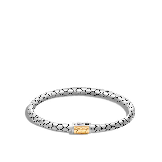 Dot 4.5MM Bracelet in Silver and 18K Gold, , large