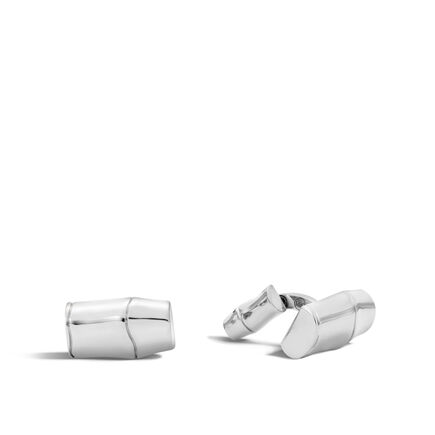 Bamboo Cufflinks in Silver