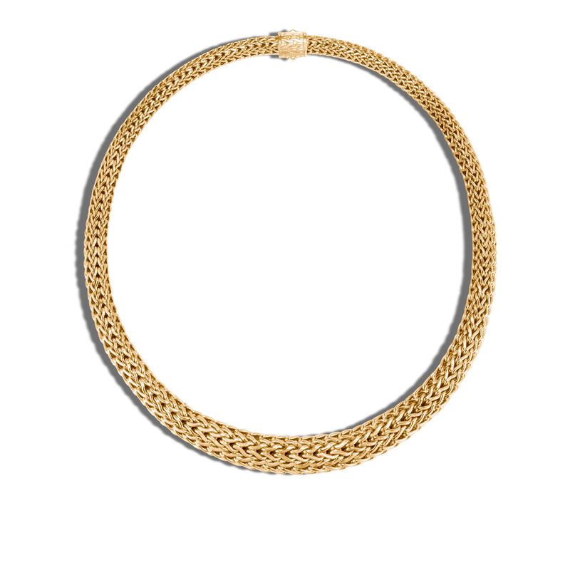 Classic Chain 13MM Graduated Necklace in 18K Gold, , large