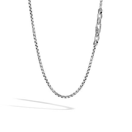 Classic Chain 4MM Box Chain Necklace in Silver
