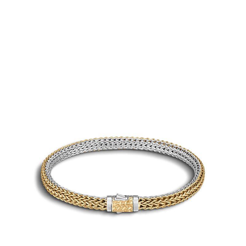 Classic Chain 5MM Reversible Bracelet, Silver, 18K Gold , , large