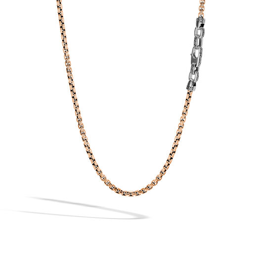 Classic Chain 4MM Box Chain Necklace in Bronze and Silver, , large
