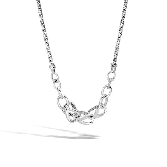 Asli Classic Chain Link Necklace in Silver, , large