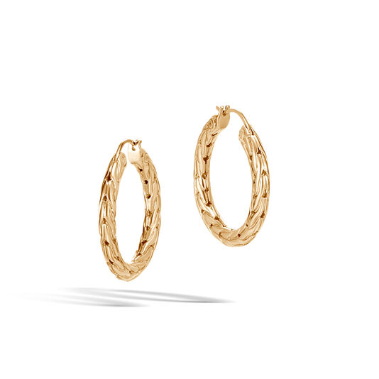 Classic Chain Small Hoop Earring in 18K Gold, , large