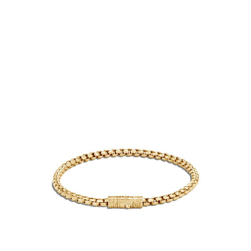 3.7MM Box Chain Bracelet  in 18K Gold, , large