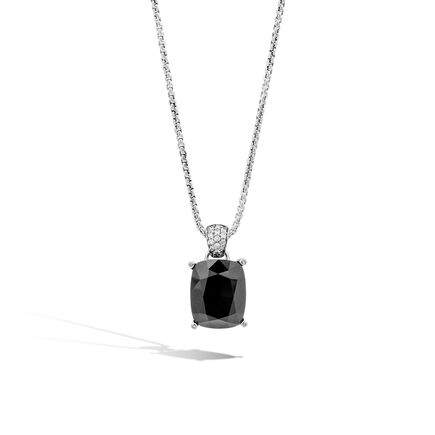 Classic Chain Magic Cut Pendant, Silver, Gemstone, Diamonds