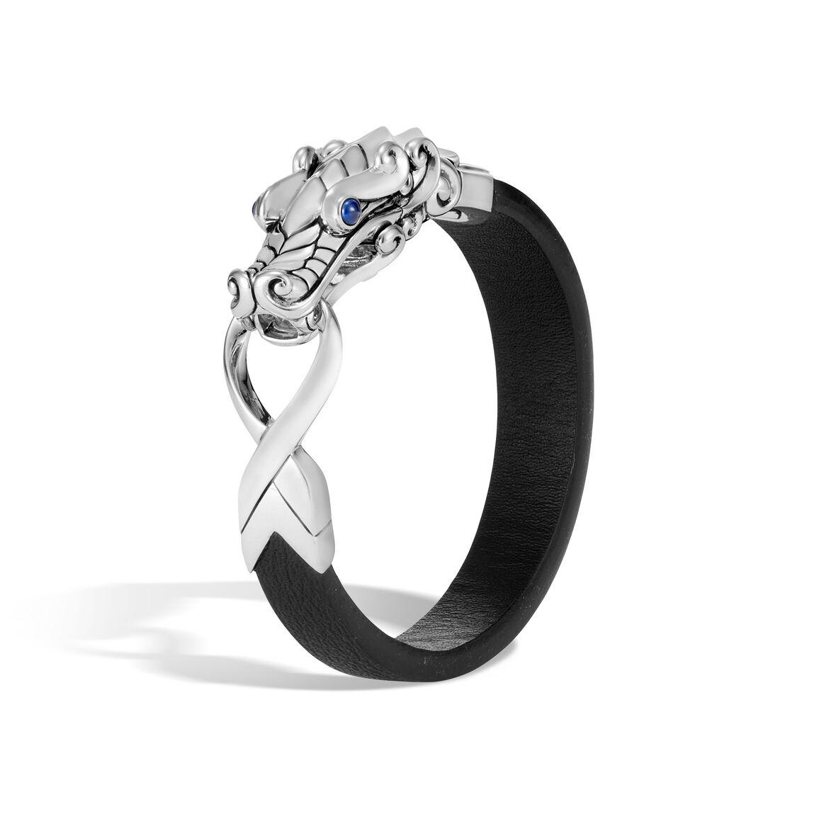 Legends Naga 15MM Bracelet in Silver and Leather
