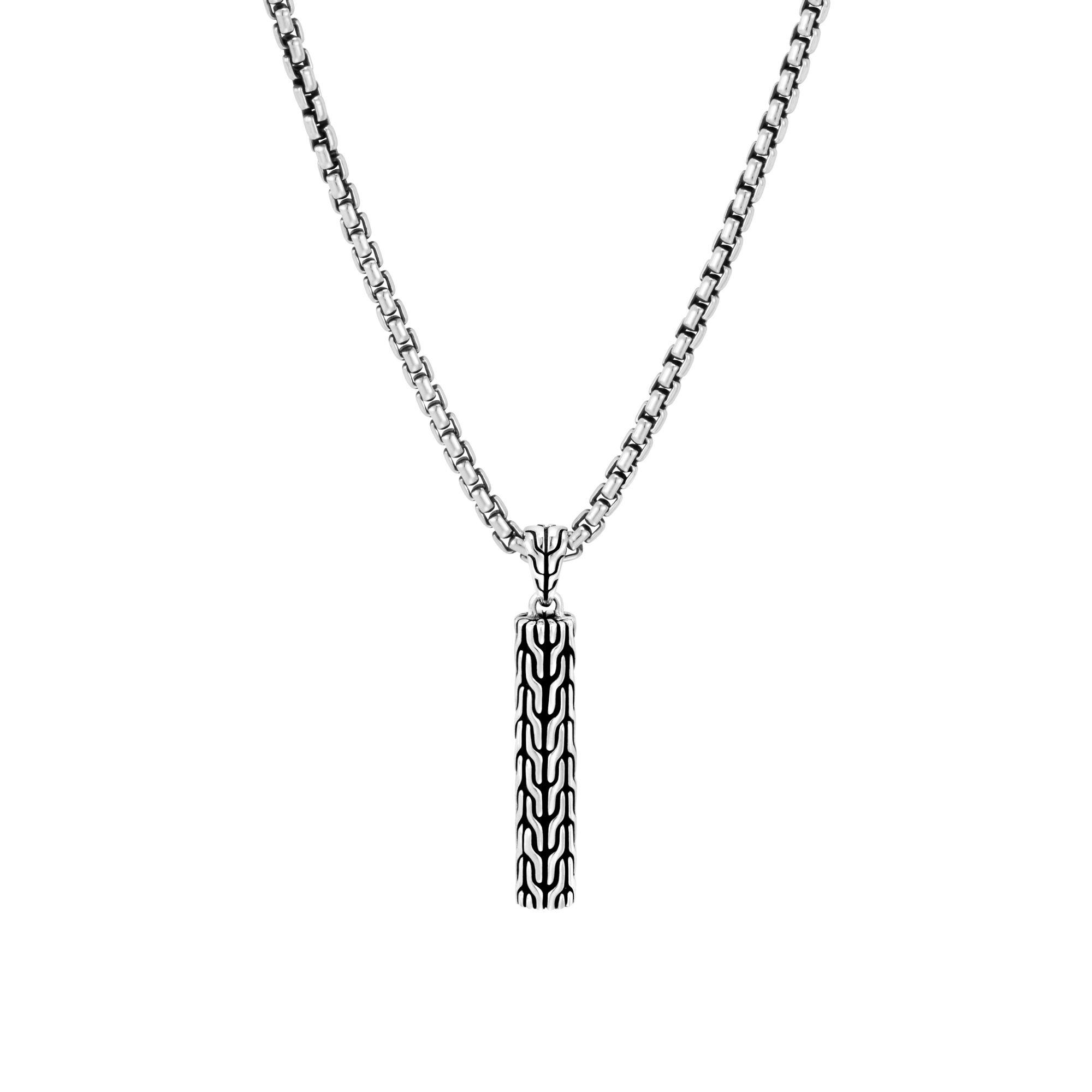 Pendant Box Chain Necklace, , large