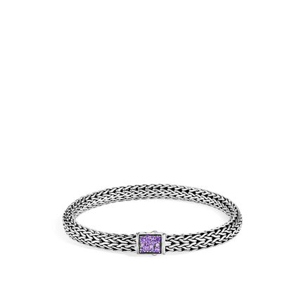 516cad6ca649 Reversible 6.5MM Bracelet in Silver with Gemstone and Diamond