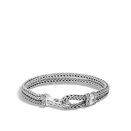 Classic Chain Hook Clasp Bracelet in Silver