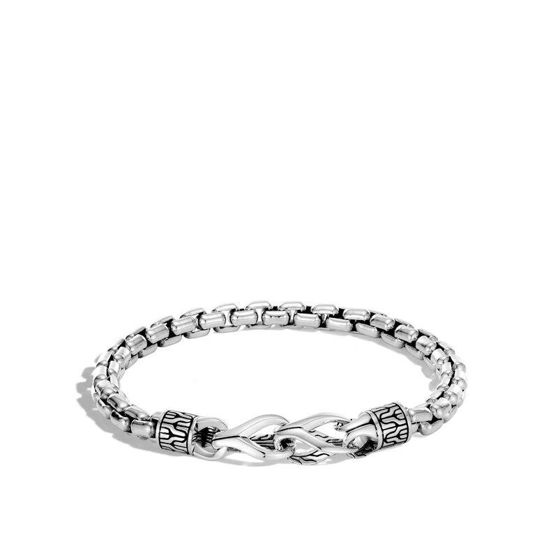 Asli Classic Chain Link 6MM Box Bracelet in Silver, , large