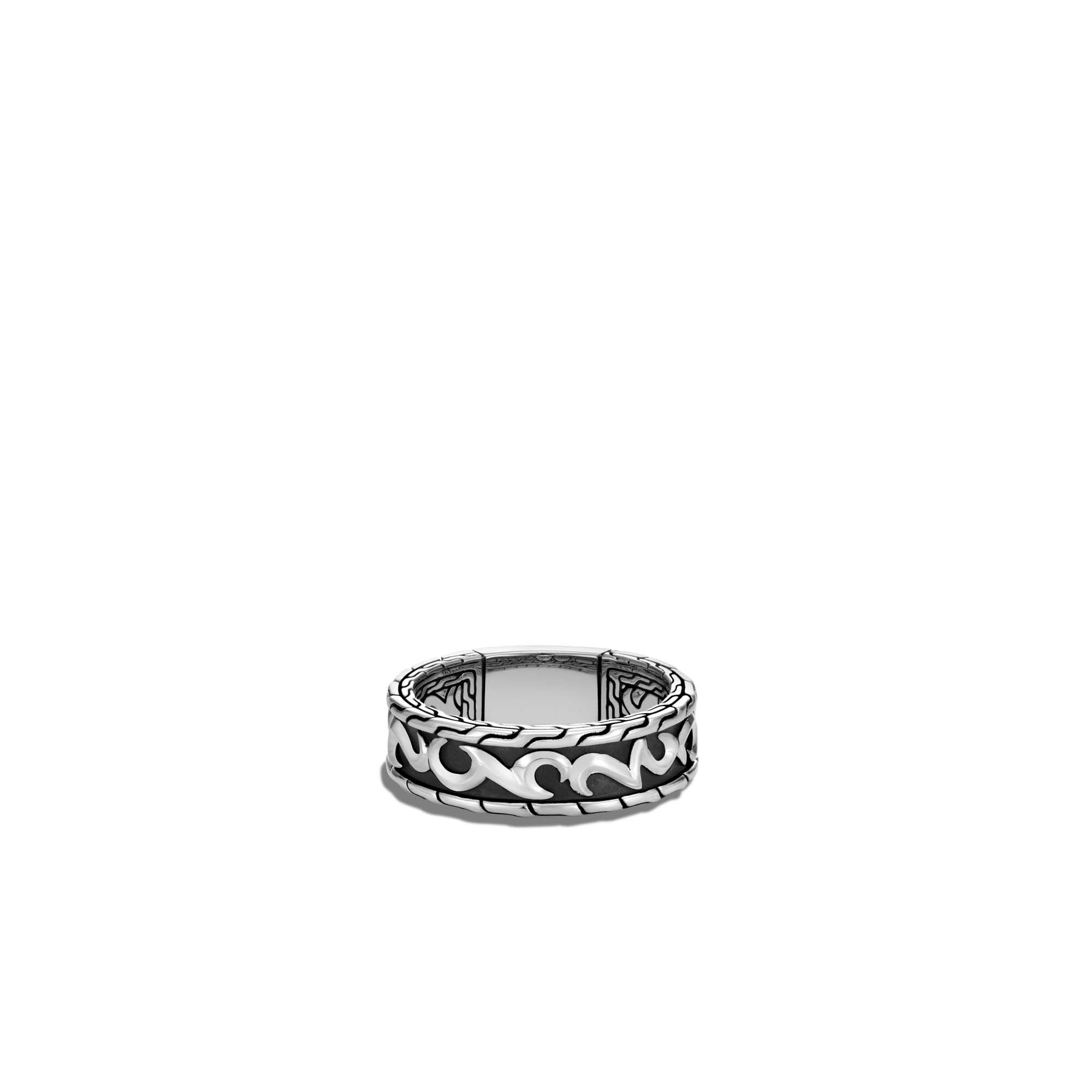 Classic Chain Keris Dagger 7MM Band Ring in Silver, , large