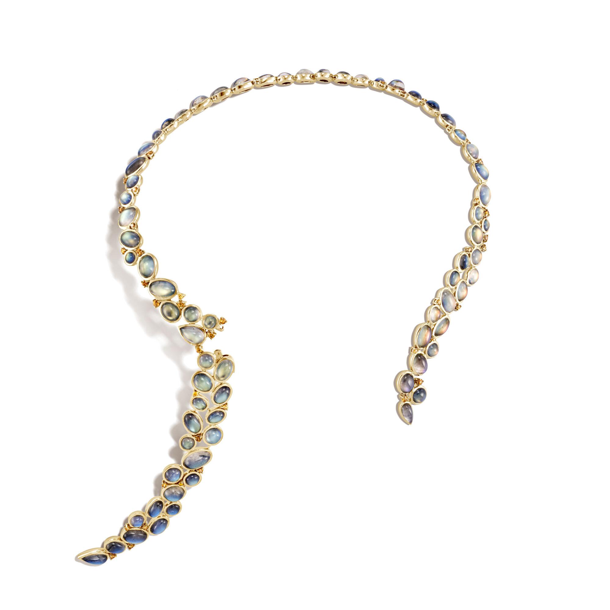 Classic Chain Sungai Biang Lalah Necklace, Yellow Diamond, large