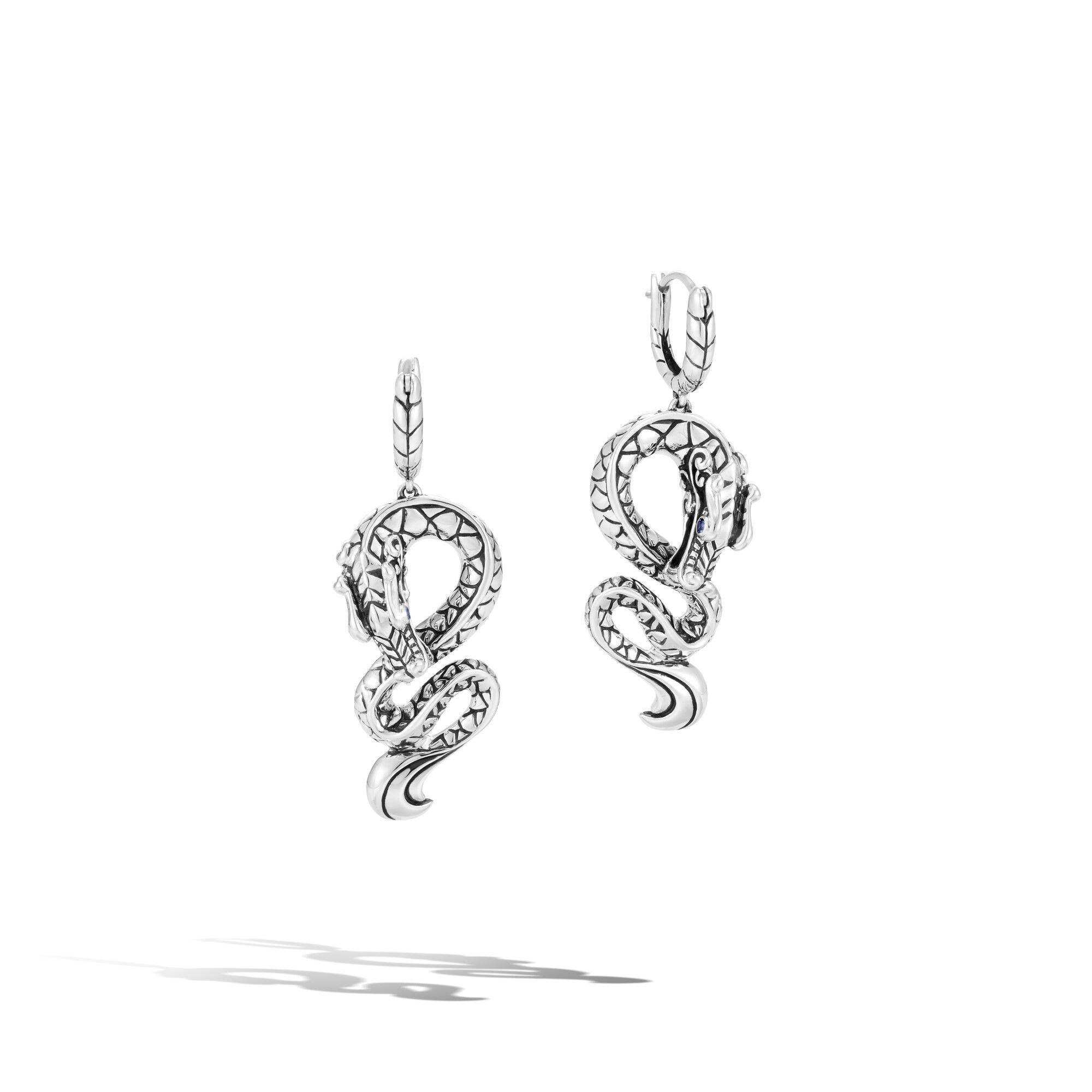 Legends Naga Drop Earrings in Silver, , large
