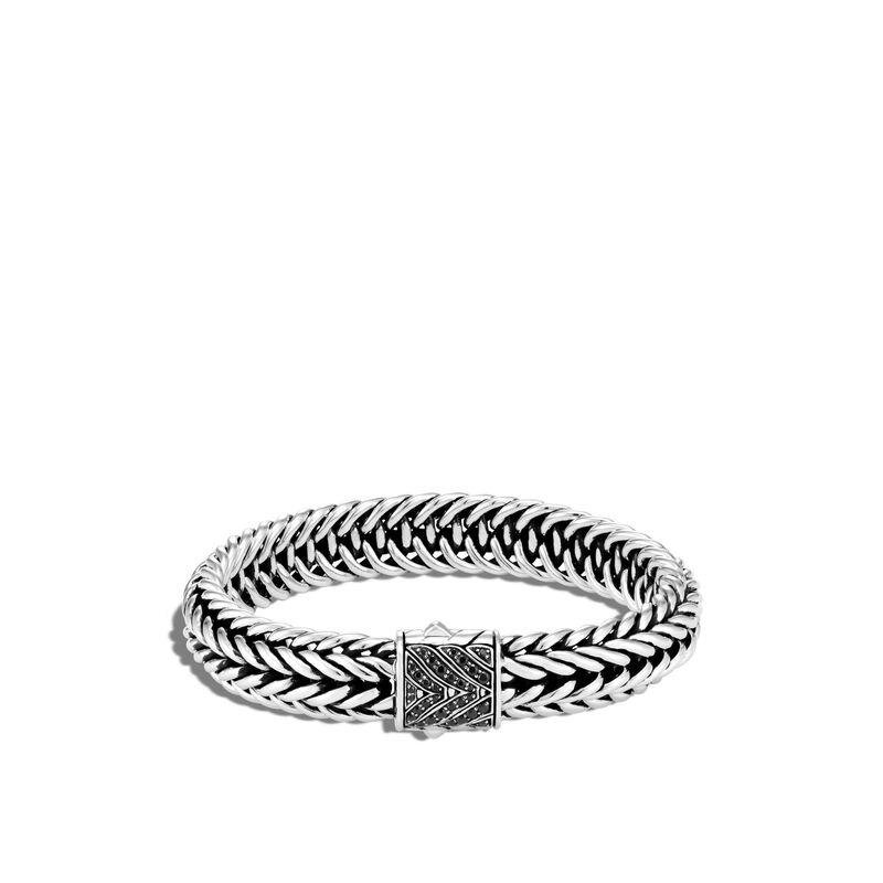 Kami Chain 12MM Bracelet, Treated Black Sapphire, large