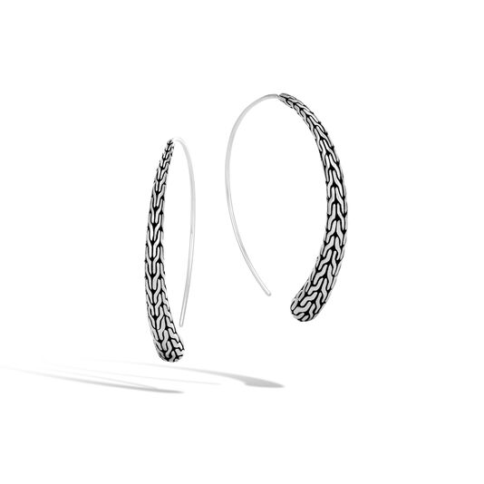 Classic Chain Large Hoop Earring in Silver, , large