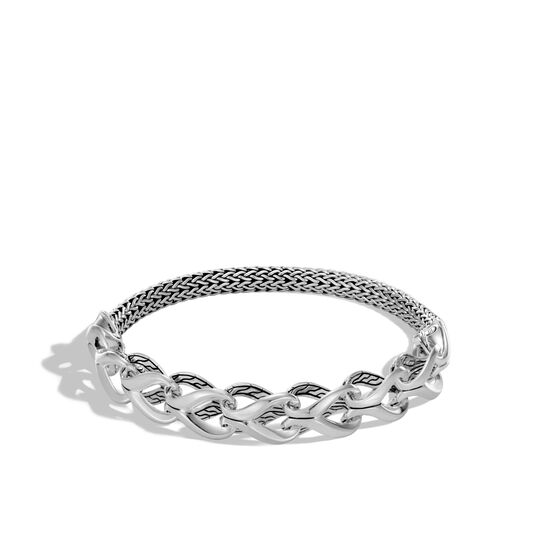 Asli Classic Chain Link Half Bracelet in Silver, , large