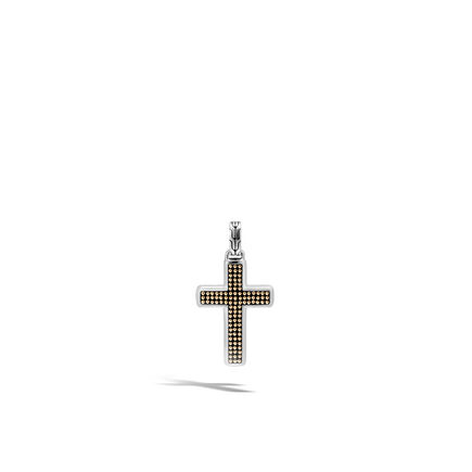 Chain Jawan Cross Pendant in Silver and 18K Gold