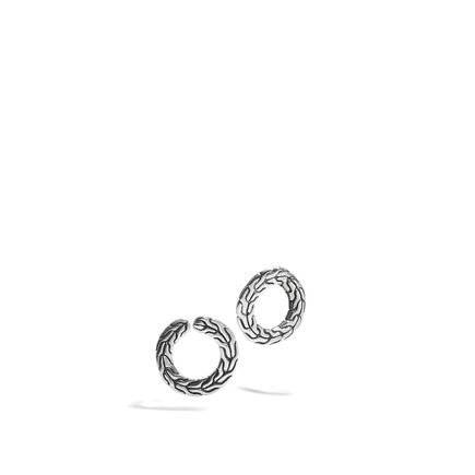 Round Carved Chain Earrings