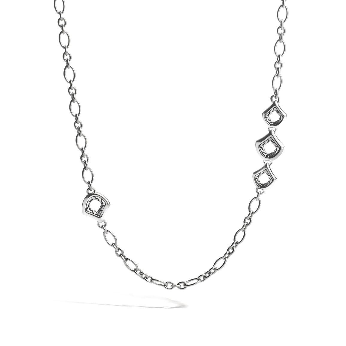 Legends Naga 4MM Link Necklace in Silver