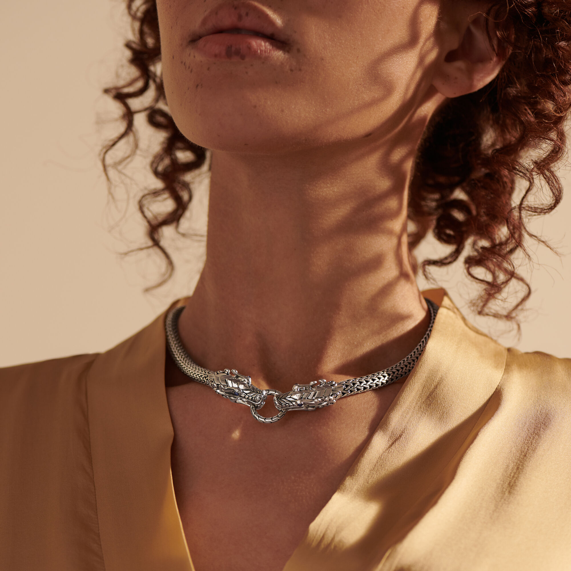 Legends Naga Necklace in Silver, , large