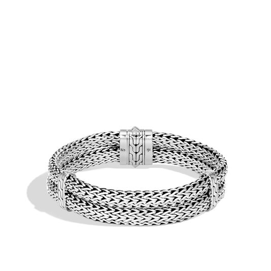 Classic Chain 14MM Double Row Bracelet in Silver, , large