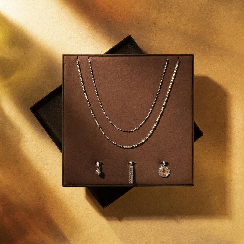 Interchangable Chain & Pendant Set in Bronze, Silver, Pyrite, large