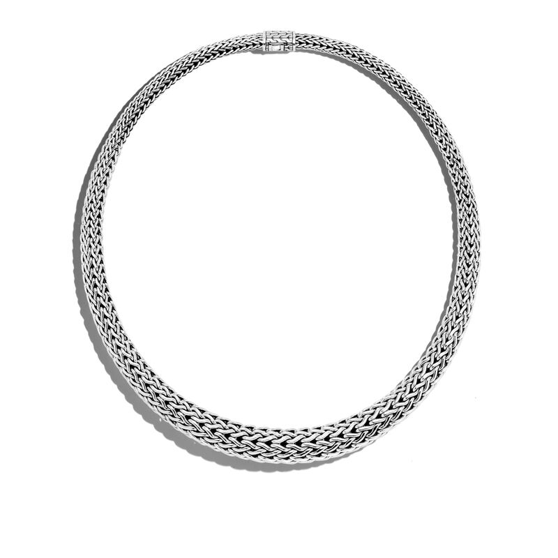 Classic Chain 13MM Graduated Necklace in Silver, , large