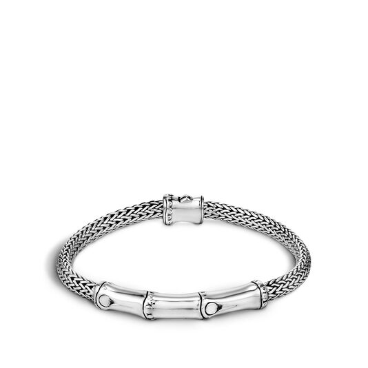 Bamboo 4MM Bracelet in Silver, , large
