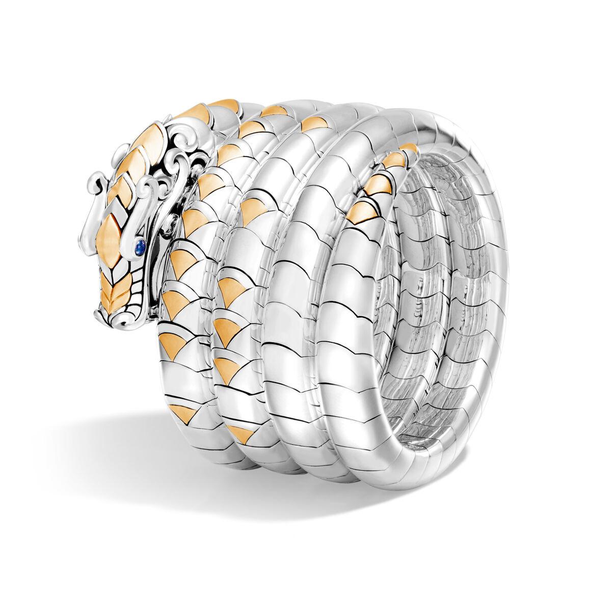 Legends Naga Multi Coil Bracelet in Silver and 18K Gold
