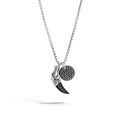 Necklaces legends naga charm necklace in silver with gemstone aloadofball Image collections