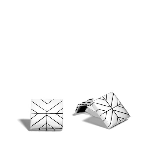 Modern Chain Cufflinks in Silver, , large