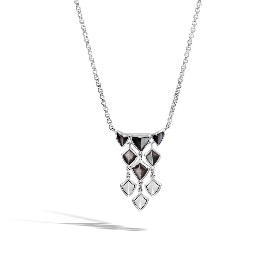Legends Naga Necklace in Silver with Gemstone
