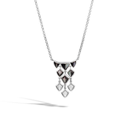Womens necklaces silver necklaces pendants designer jewelry legends naga necklace in silver with gemstone aloadofball Image collections