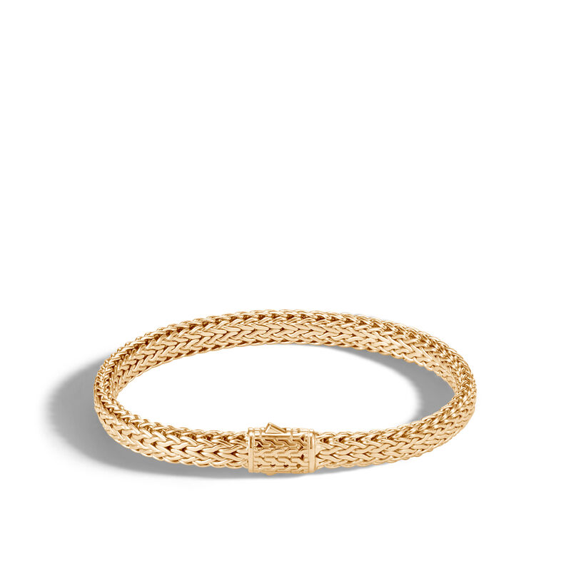 Classic Chain 6.5MM  Bracelet in 18K Gold, , large