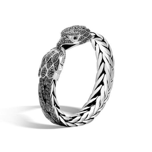 Legends Eagle 15MM Station Bracelet in Silver with Gemstone, Black Sapphire, large