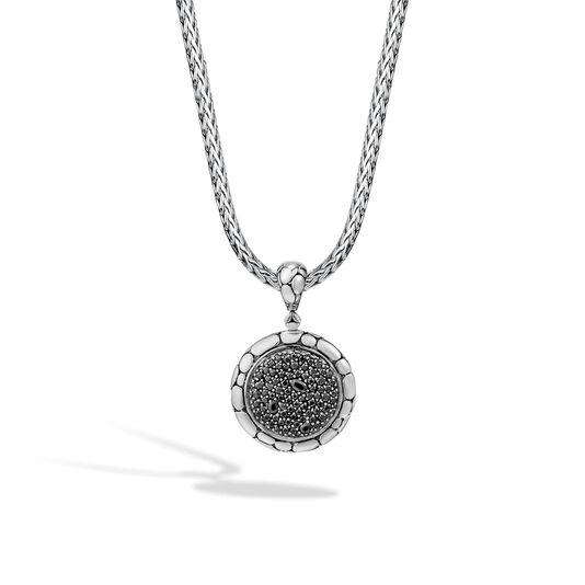 Kali Enhancer in Silver with Gemstone, Black Sapphire, large