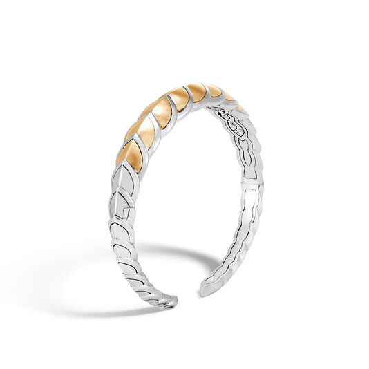 Legends Naga 11MM Cuff in Silver and Brushed 18K Gold, , large