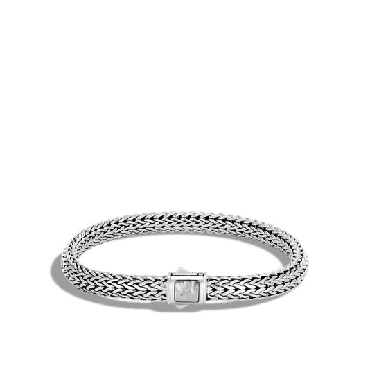 Classic Chain 6.5MM Hammered Clasp Bracelet in Silver , , large