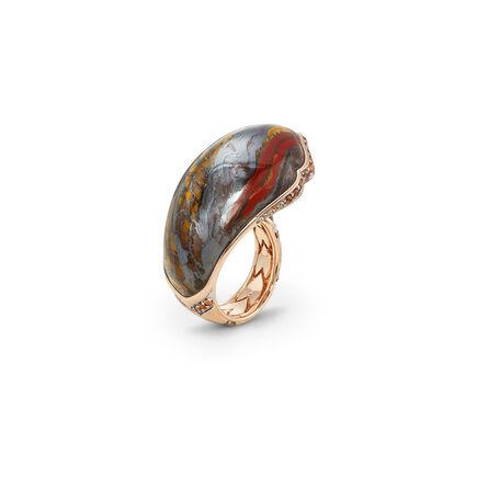 Cinta Legends Naga Trilogy Volcano Ring in 18K Gold