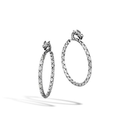 Legends Naga Medium Hoop Earring in Silver