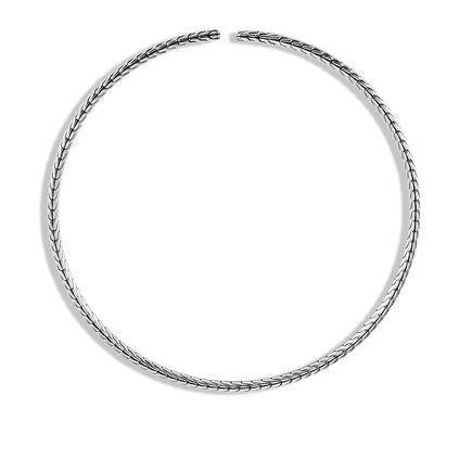 Classic Chain Choker Necklace in Silver