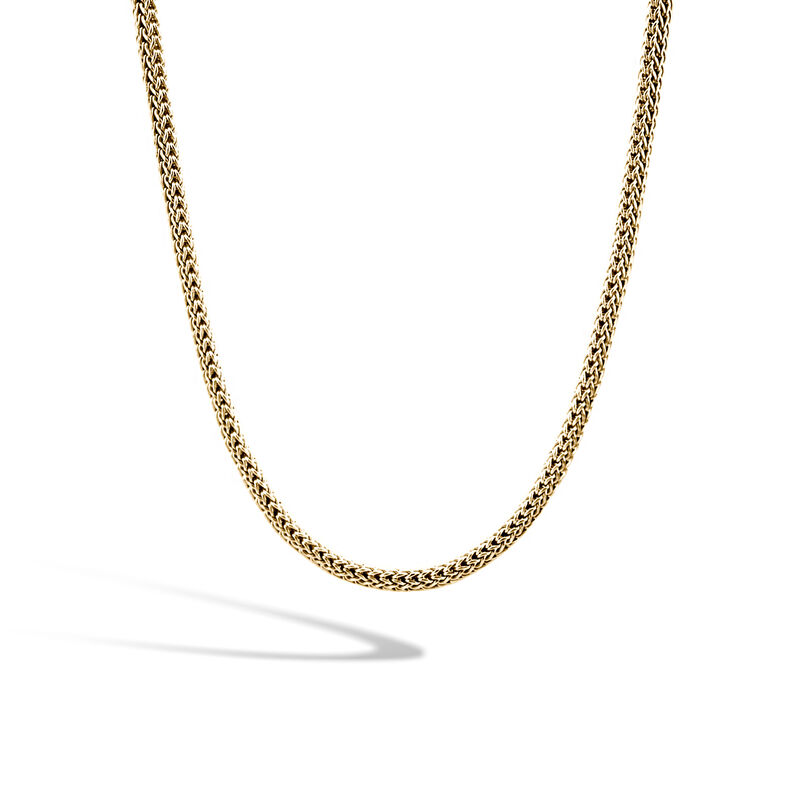 Classic Chain 5MM Reversible Necklace in Silver and 18K Gold, , large