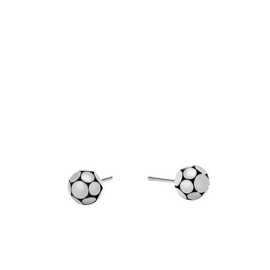 Dot Stud Earring in Silver, , large