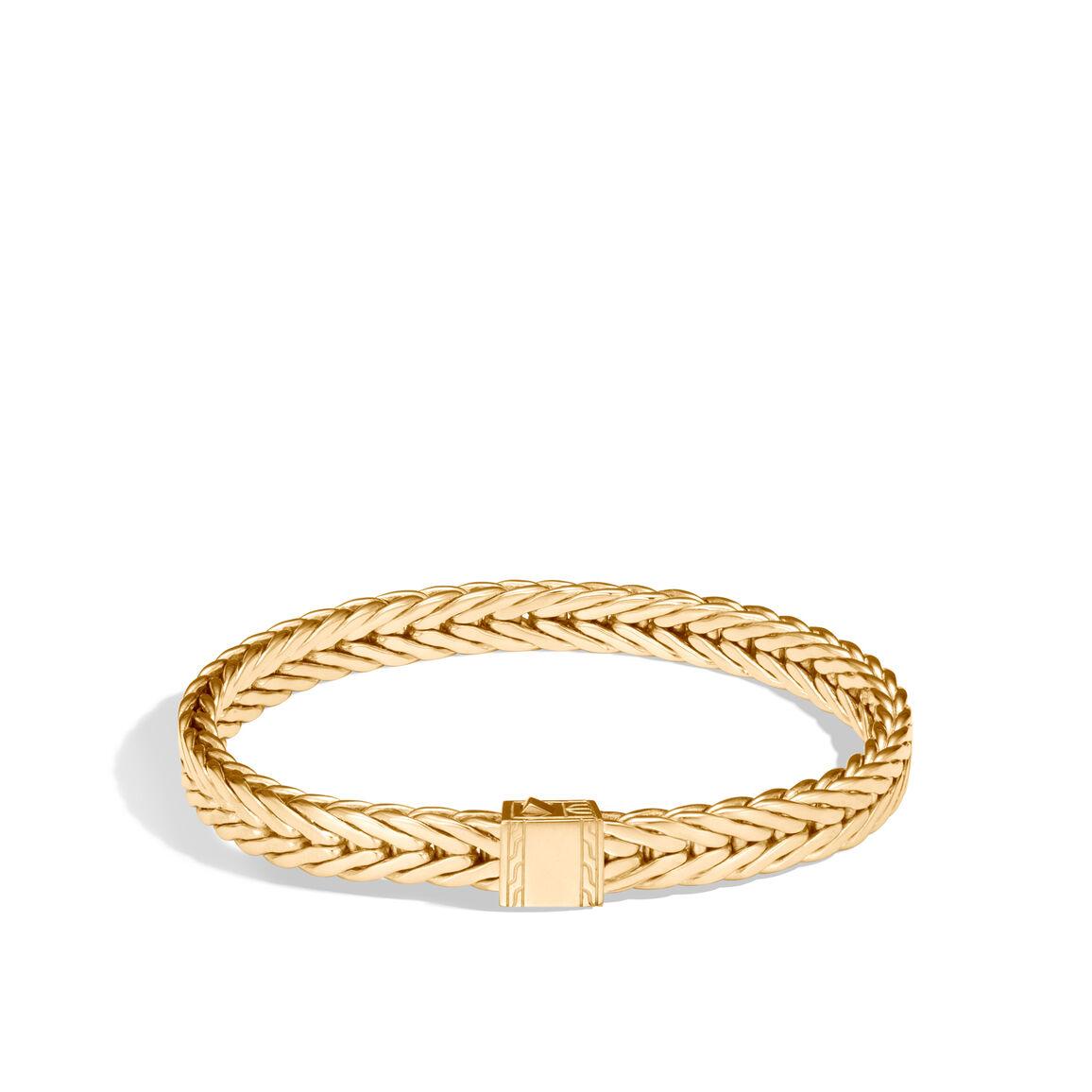 Modern Chain 7MM Bracelet in 18K Gold
