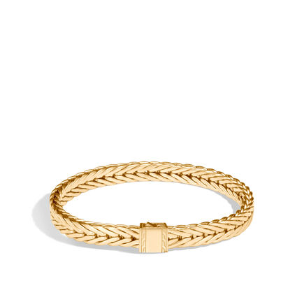 Modern Chain 7MM Bracelet in 18K Gold